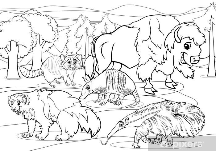 Vinilo Pixerstick Mamiferos Animales Para Colorear De Dibujos