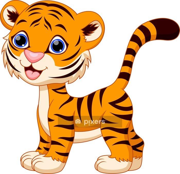 Wandtattoo Netter Tiger Cartoon