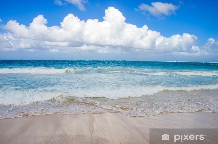 Vinylová fototapeta Nebe nad pláží v Dominikánské republice. - Vinylová fototapeta