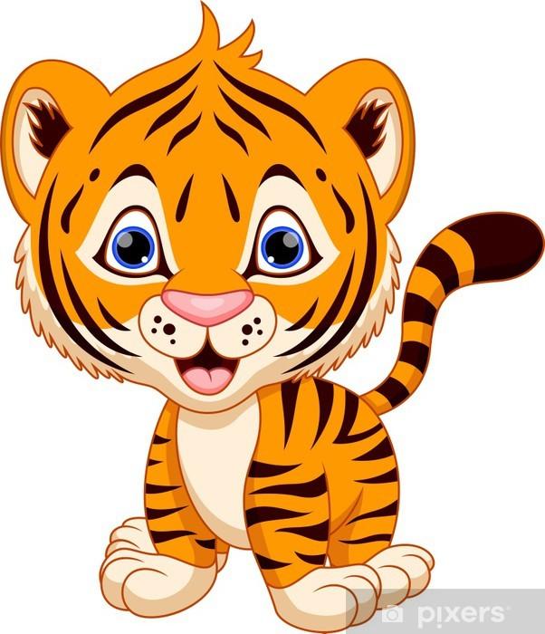 Fototapete Cute Baby Tiger Cartoon