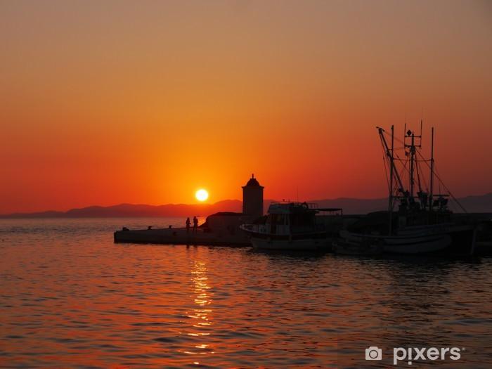Sticker Pixerstick Coucher de soleil sur l'île de Brac - Europe