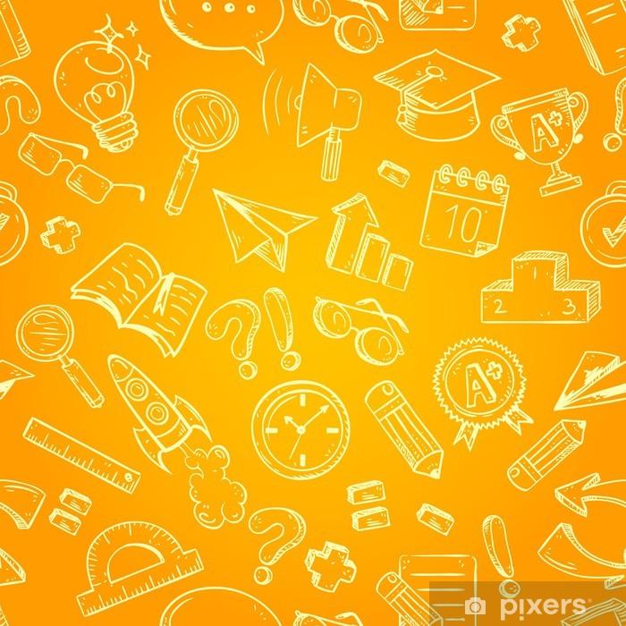 Poster Back to school seamless pattern - Ausbildung