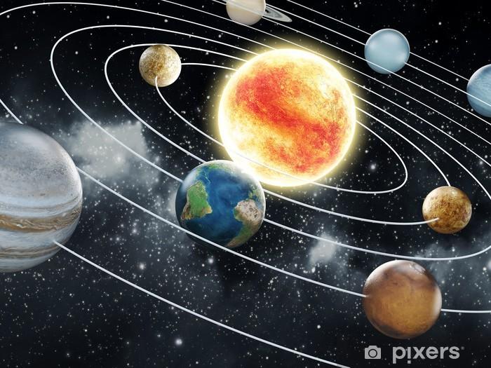 Solar system illustration Pixerstick Sticker - Universe