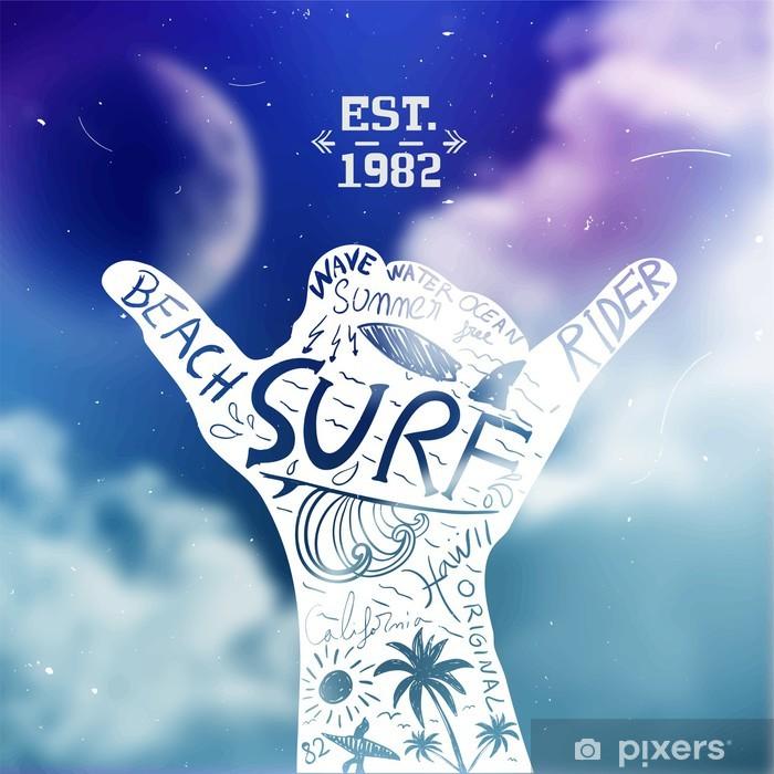 Poster Surfen Design- - Hintergründe