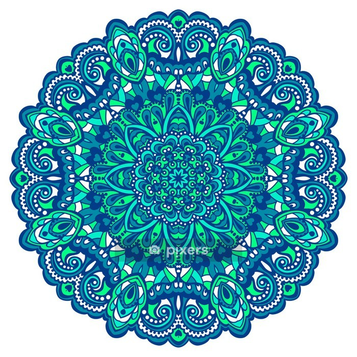 Flower Mandala. Abstract element for design Wall Decal - Wall decals