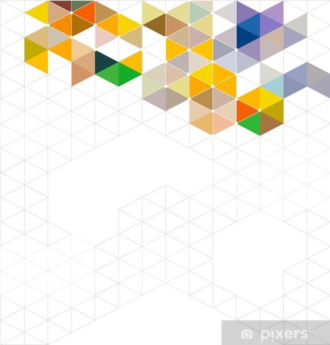 Sticker Pixerstick Résumé de modèle géométrique moderne coloré et de l'espace pour le texte, - Signes et symboles