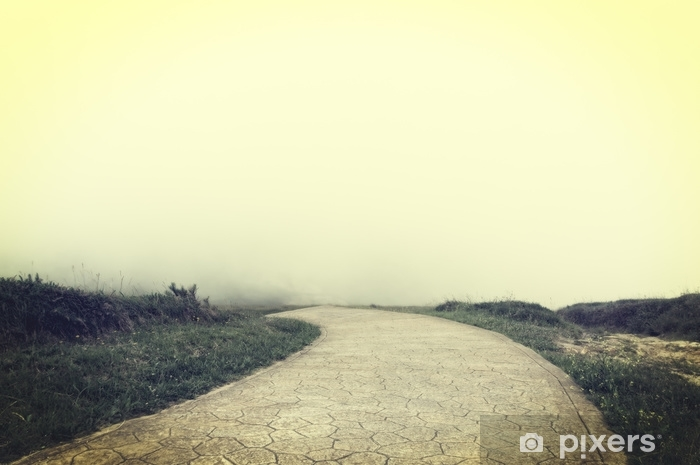 Fotomural Estándar Camino a ninguna parte con efecto de filtro vintage. - Construcciones y arquitectura