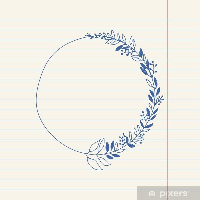 Sticker Pixerstick Vectoriser romantique esquisse illustration doodle de gerbe - Signes et symboles