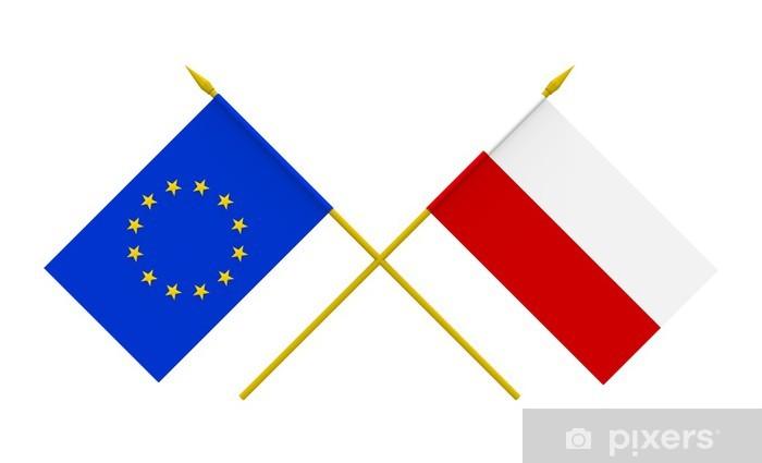 Naklejka Flagi, Polska i Unia Europejska • Pixers® - Żyjemy by ...