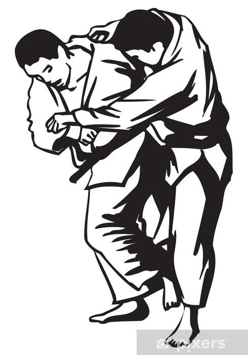Judo fight Pixerstick Sticker - Sports