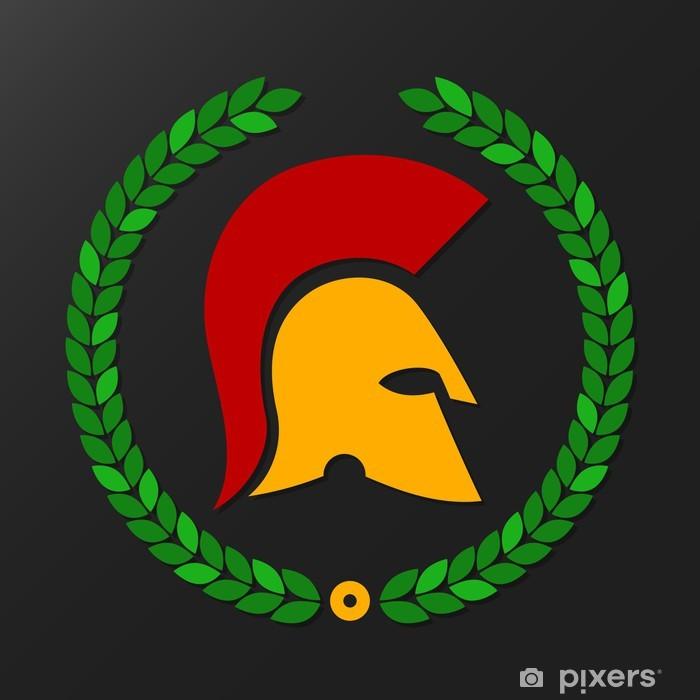 Papier peint vinyle Casque Spartan - Signes et symboles
