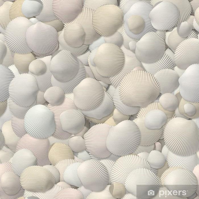 Plakat Bezszwowych tekstur z muszelek - Tła