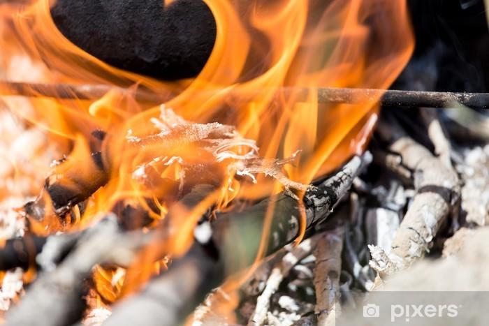 Fotomural Estándar Fuego de leña - Fondos