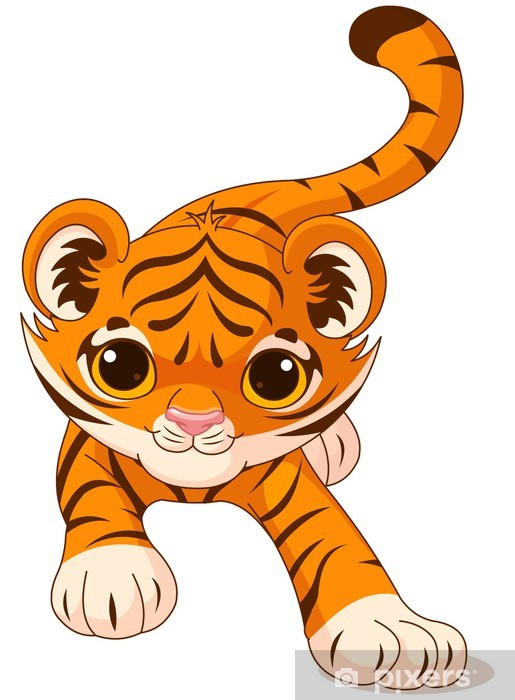Crouching Baby Tiger Wall Mural Pixers We Live To Change