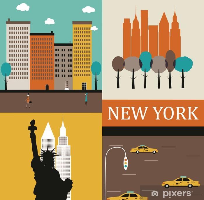 Poster New yorkais - Villes américaines