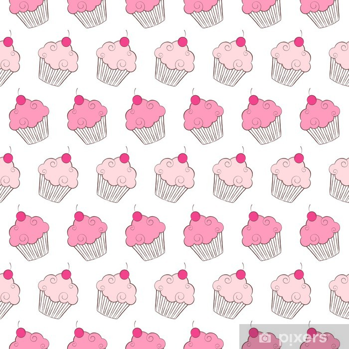 Pillow,Colors Cupcakes Seamless Pattern