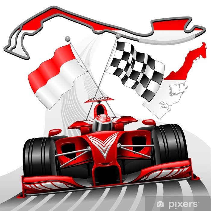 Fotobehang Formule 1.Fotobehang Vinyl Formule 1 Gp Van Monaco