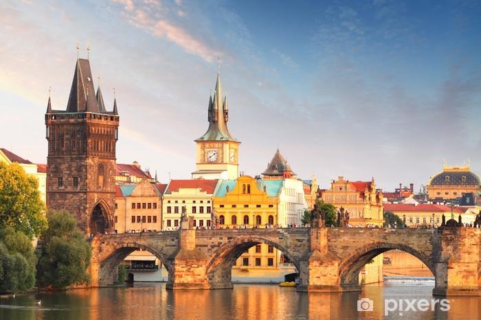 Fotomural Estándar Puente de Carlos en Praga, República Checa - Praga