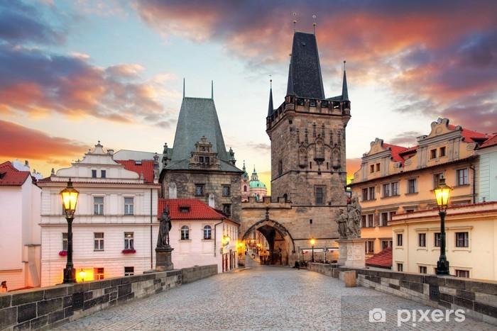 Fototapeta winylowa Praga, widok z Mostu Karola - Praga