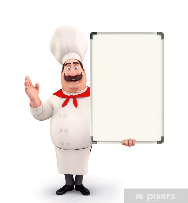 Young chef with display board Vinyl Wall Mural - People at Work