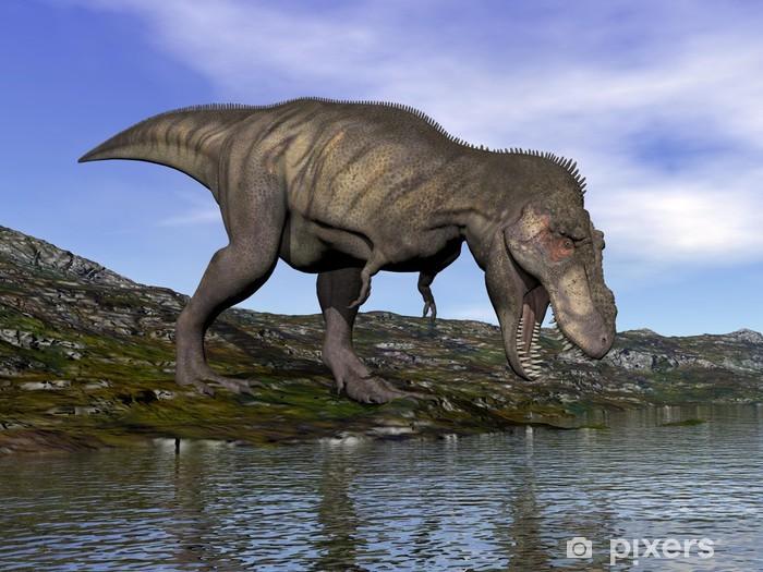 Fototapeta winylowa Tyrannosaurus Rex dinozaura - 3d render - Tematy