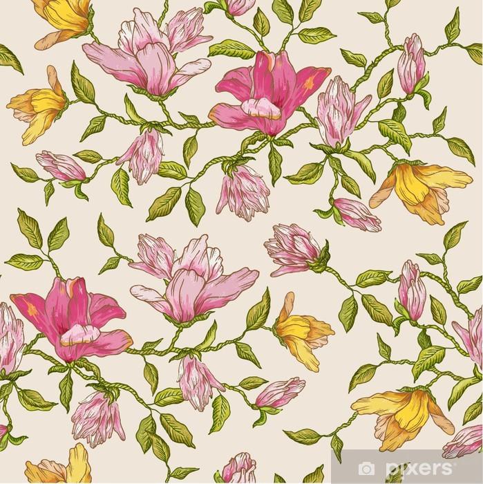 Badmat Bloemen Achtergrond - voor ontwerp, scrapbook - in vector - Achtergrond