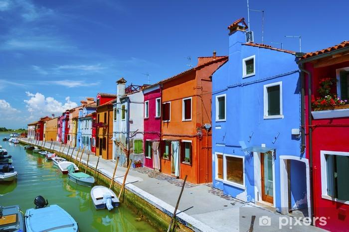 Papier peint vinyle Île de Burano venise - Thèmes