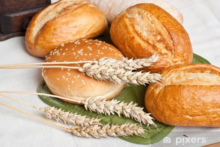 Sticker Pixerstick Fraîchement cuit rouleaux traditionnels avec des oreilles du grain de blé - Thèmes
