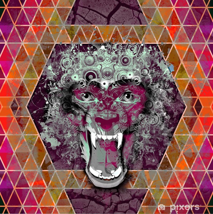 Naklejka Pixerstick Jasne tło abstrakcyjne - Gniew