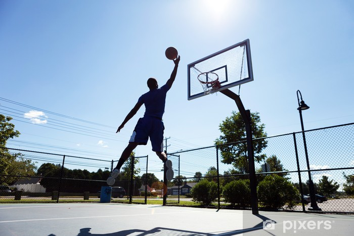 Vinilo Pixerstick Silueta jugador de baloncesto - Baloncesto