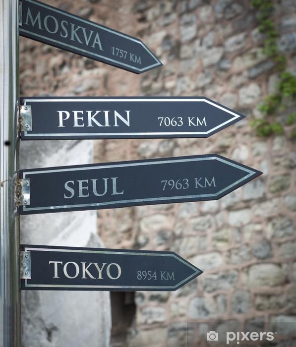 Pixerstick Sticker Wegwijzer in istanbul - Tekens en Symbolen