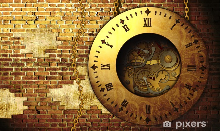 Steampunk clock Vinyl Wall Mural - Steampunk