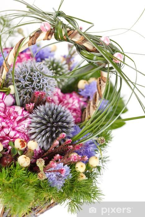 Sticker Pixerstick Bouquet de fleurs colorées - Fleurs