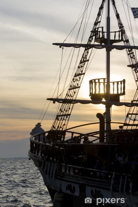 Nálepka Pixerstick Silueta plachet starožitný lodí, stožárů a čelen z A - Evropa