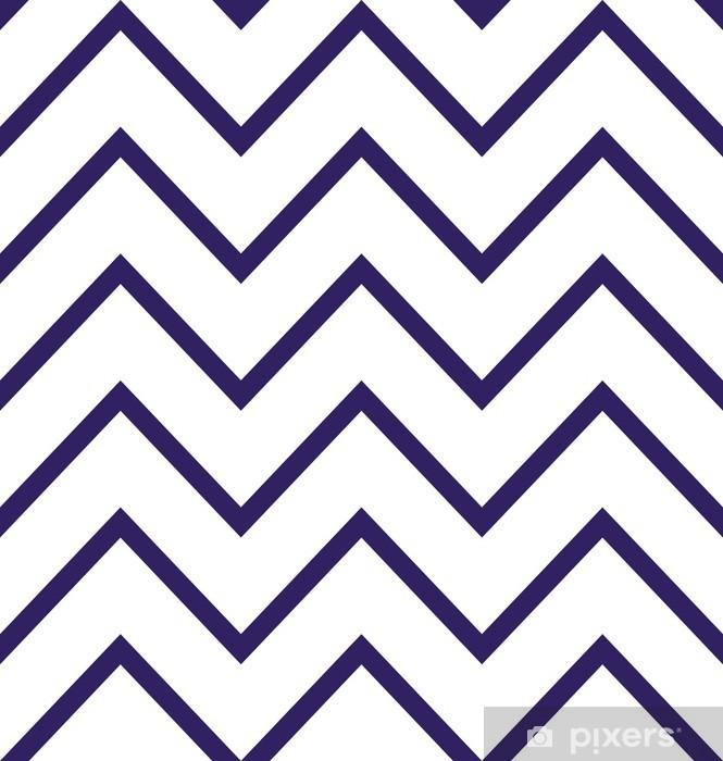 Pixerstick Sticker Abstract geometrische zigzag naadloos patroon in zwart-wit - Achtergrond