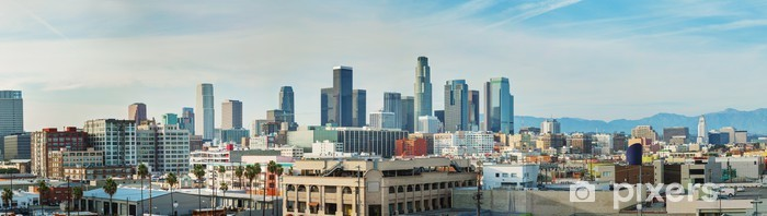 Los Angeles cityscape panorama Pixerstick Sticker - Themes