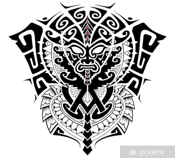 Naklejka Pixerstick Boga plemiennego z alfa i omega symbol ilustracji - Ezoteryka