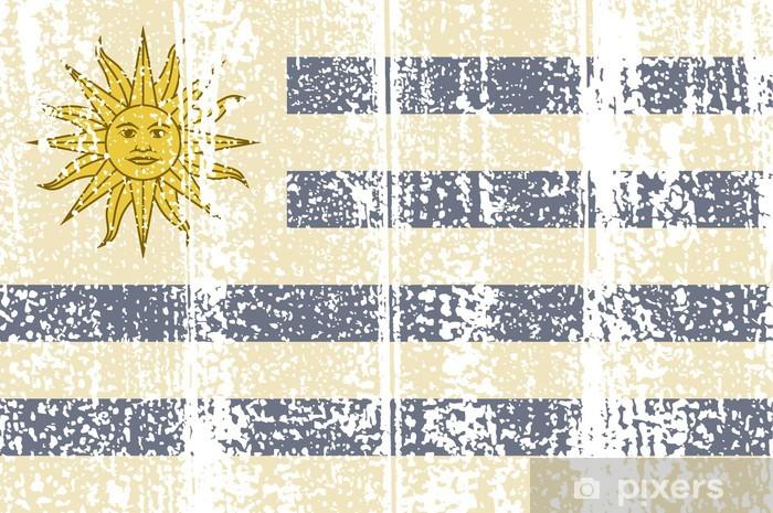Fotomural Estándar Grunge bandera uruguaya. Ilustración vectorial - Fondos