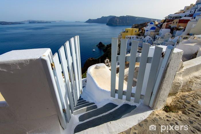 Fototapeta winylowa Miejscowości Oia na Santorini - Europa