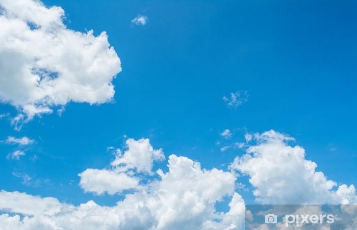 Vinylová fototapeta Bílý mrak a modrá obloha - Vinylová fototapeta