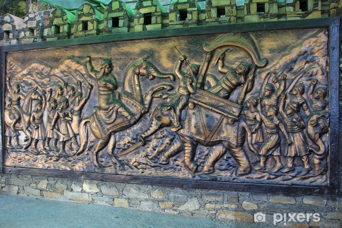 Naklejka Pixerstick Sceny z wojny tablica - Azja