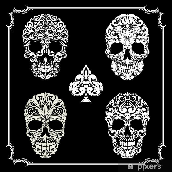 Papier peint vinyle Bundle Crâne d'ornement - Parties du corps