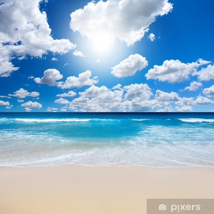 Gorgeous Beach Landscape Pixerstick Sticker - Sea and ocean