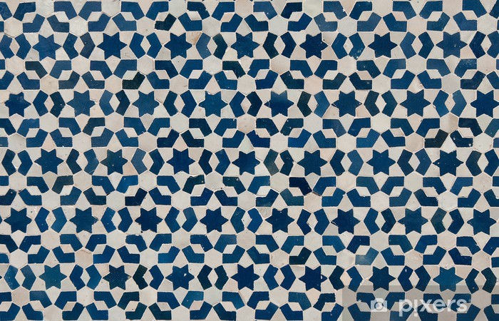 moroccan vintage tile background Washable Wall Mural - Backgrounds