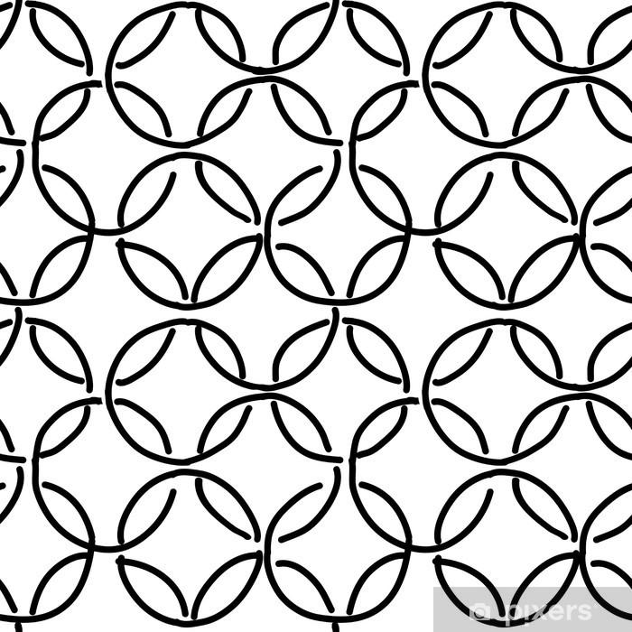 Naklejka na szybę i okno Streszczenie pierścienie szwu wzór dla projektu - Tła