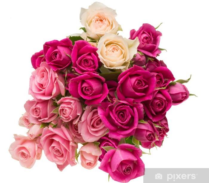 Plakat Pełny bukiet z róż - Kwiaty