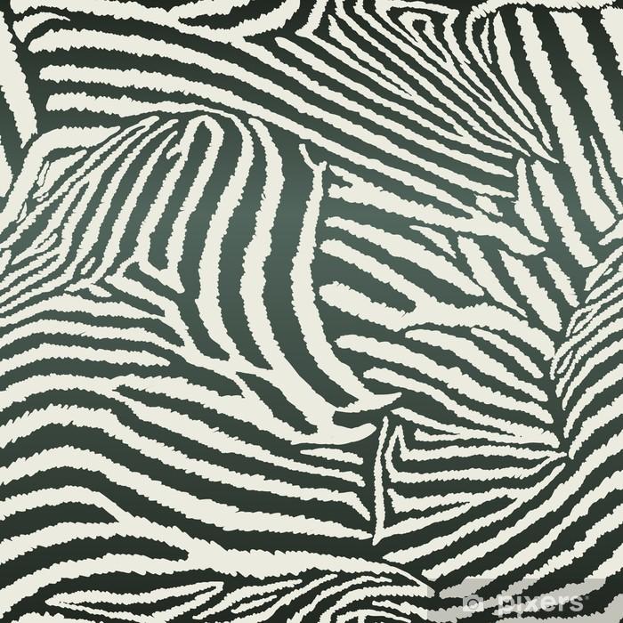 Afwasbaar Fotobehang Animal Zebra Naadloze Achtergrond - Ecologie