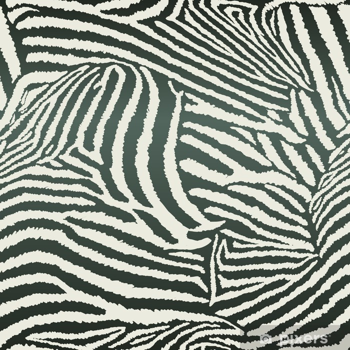 Animal Zebra Seamless Background Washable Wall Mural - Ecology
