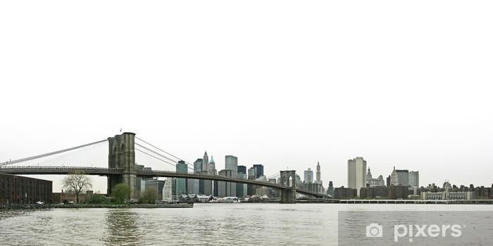 Papier peint vinyle Pont de Brooklyn et Manhattan inférieure vue panoramique sur - Sticker mural