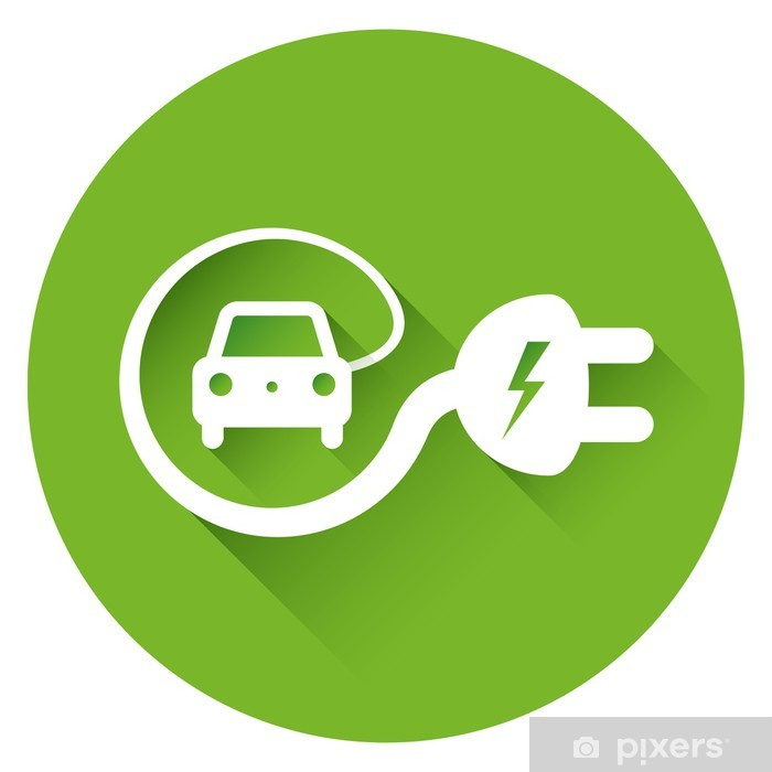 Electric Car Icon Wall Mural Pixers We Live To Change
